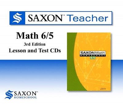 Saxon Math 65 Homeschool Teacher Lesson & Test Cds 6/5 Re...