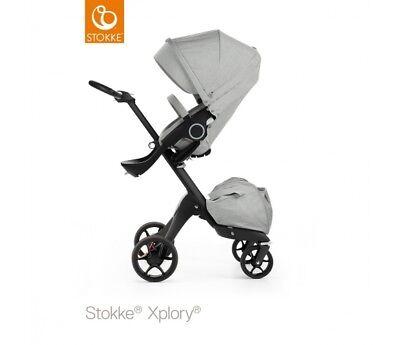 STOKKE Xplory V5 Grey Melange - Black Chassis 480003 NEW Express UK Delivery