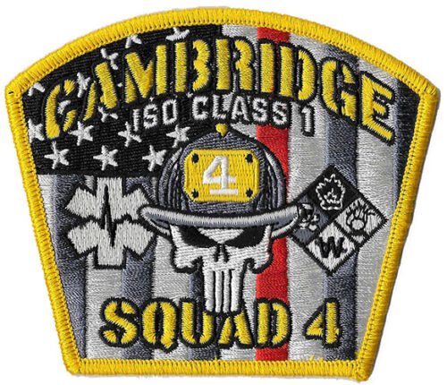 Cambridge, MA Squad 4 Haz Mat NEW Fire Patch
