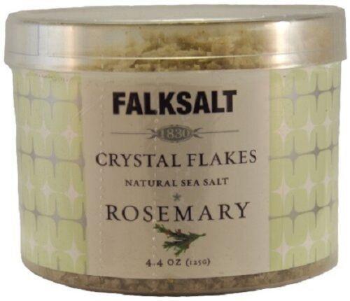1 x FALKSALT ROSEMARY NATURAL SEA SALT CRYSTAL FLAKES 4.4oz / 125g NEW