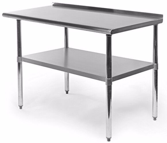 commercial restaurant equipment kitchen work and prep table with backlash steel - Kitchen Prep Table Stainless Steel
