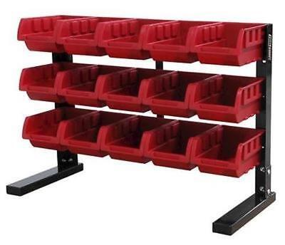 Benchtop Small Parts Nuts Bolts Hardware Tool Storage Rack w/ 15 Removable..