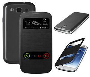 Cover S View Leather Smart Flip Case for Samsung Galaxy S3 I9300