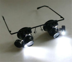 WATCH MAKERS GLASSES WITH LIGHTS BRAND NEW $50.00