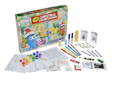 Crayola Advent Calendar Christmas Countdown Activity Kit 24 items New in Box