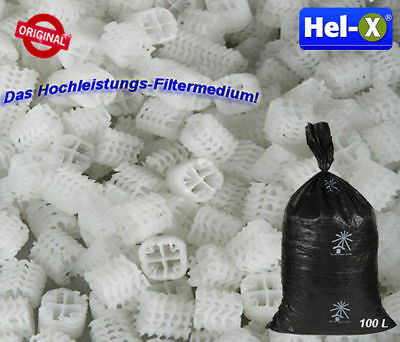 Hel-X 17 KLL Filtermedium Helix Filter Medium Bio Filtermaterial Koi Teich 100 L