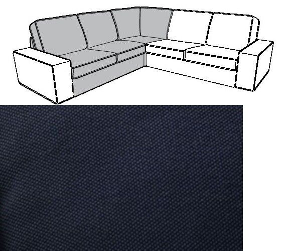 Ikea Kivik 2er Sofa Bezug Dansbo Dunkelgrau 102 111 77