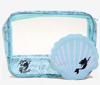 Disney The Little Mermaid Ariel 2 Piece Makeup Cosmetic Bag - Little Mermaid 2 Piece