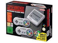 SNES Mini Console 2 controllers loaded with 125 games