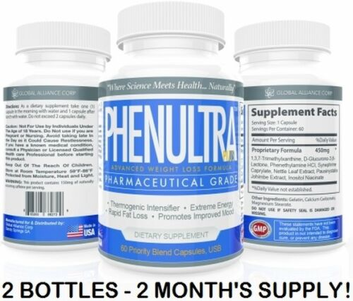 PhenUltra 120ct Best Strong Strongest Adipex Alternative Diet Pills Fat Burners