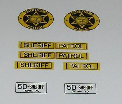 McNairy Co Tennessee Sheriff 1/25 1/24 scale police decals Buford Pusser -RARE