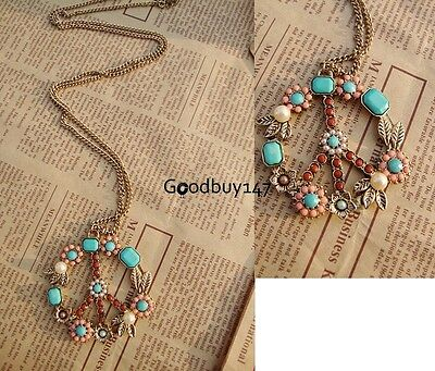 Fashion Women Vintage Jewelry peace sign Pendant Necklace long 70cm