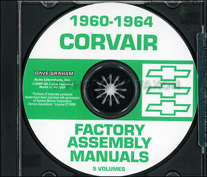 Chevy-Corvair-Car-Assembly-Manual-Set-on-CD-1960-1961-1962-1963-1964-Factory