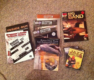 Drum Ed Material: cds/dvds/books (Tec, Zeppelin, Theory, Jazz)