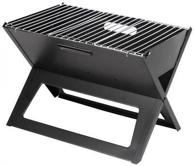 Fire Sense Charcoal Grill HotSpot Notebook Portable in Black