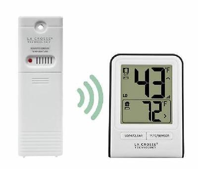 La Crosse Wireless Remote Thermometer White In and Out Temp Fahrenheit Celsius