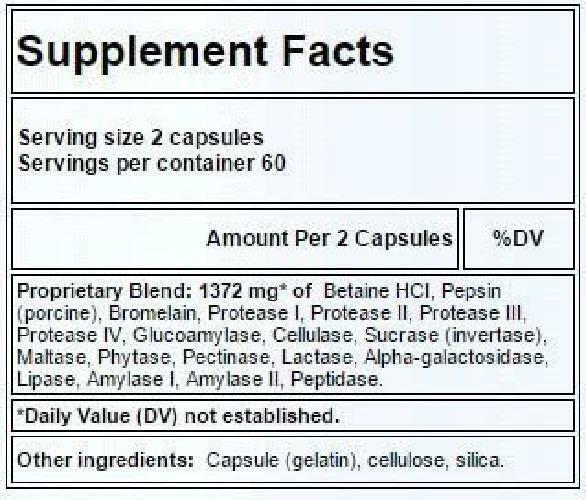Apex Energetics EnzymixPro 120 Capsules (K-99) 1