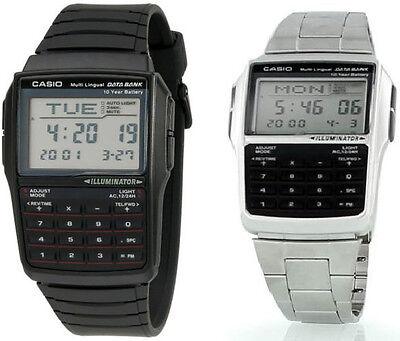 Casio Black Digital Watch w/ Databank, Calculator, Alarm & L