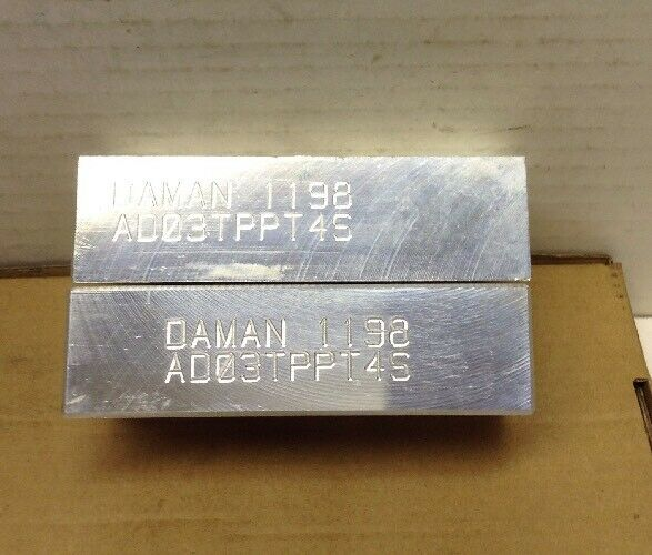 Daman AD03TPPT4S Aluminum Tapping Plate LOT OF 2
