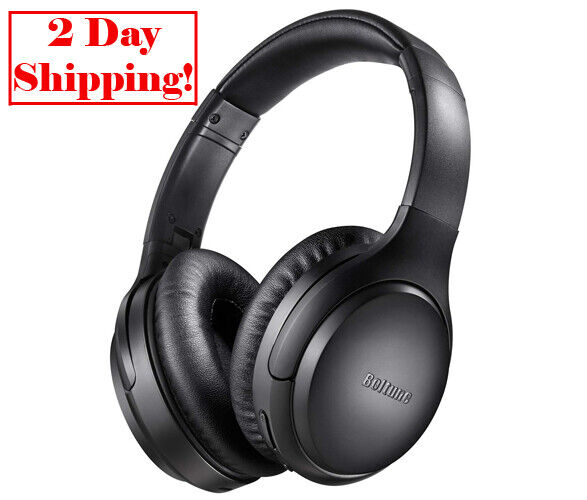 Active Noise Cancelling Headphones Boltune Bluetooth 5.0 Ove