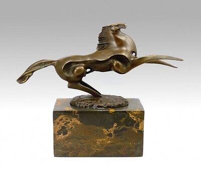 Künstler Bronze - Dynamischer Hengst - signiert Milo
