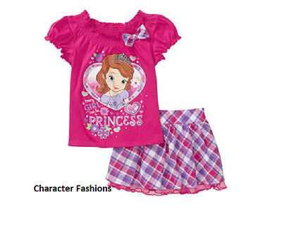 SOFIA THE FIRST 24 Mo 3T 4T 5T Girls SKIRT SHIRT TOP Outfit Set DISNEY PRINCESS - Sofia The First Skirt