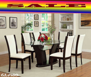 furniture on sale, dining tables, 6 chairs, benches, arm chairs
