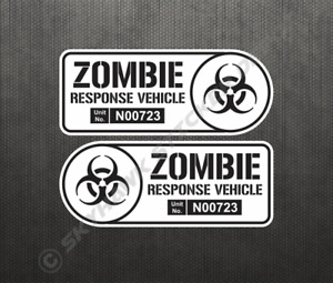 Zombie Response Vehicle Set Sticker Vinyl Decal Jeep Ford Chevy
