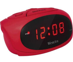 Westclox Red LED Display Tabletop Electric Alarm Clock (Red) 70044R