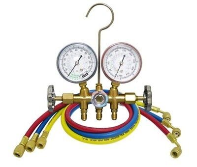 Air Conditioning Refrigeration Charging Manifold Gauges Set Pressure Filling