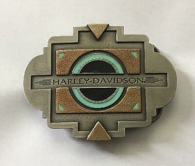 Harley Davidson 1996 Southwest Black Sun Belt Buckle New In Box