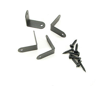 Four Penn Elcom Small Corner Braces- Black- W/Mounting Screws     1208BK