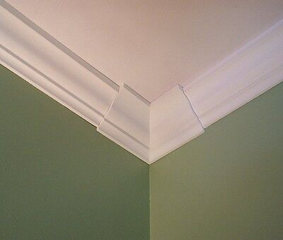 Crown Molding Corners (4 Crown Molding Corners Low Profile, Inside Moulding Corners fits 3 5/8
