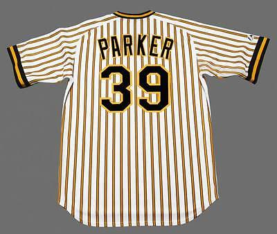 DAVE PARKER Pittsburgh Pirates 1978 Majestic Cooperstown Home Baseball Jersey