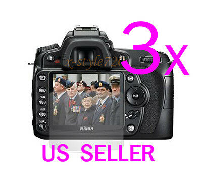 3x Clear LCD Screen Protector Guard Cover Film For Nikon DSLR D90