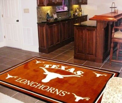 NCAA Texas Longhorns 4 x 6 area rug 4' x 6' Fanmats USA QUIC