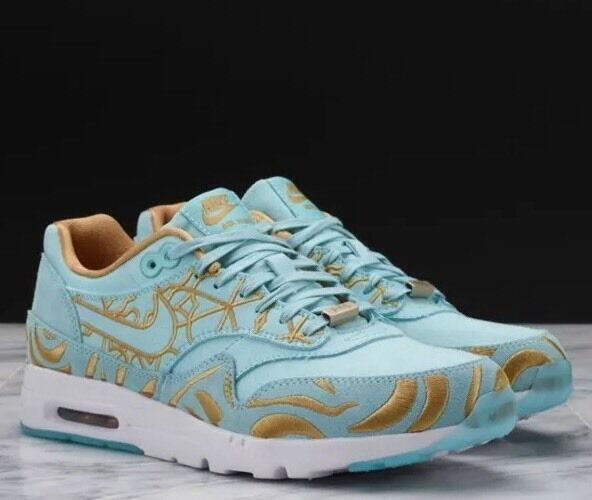 Nike Air Max 1 Ultra Lotc QS Paris Womens 747105-300 Island Green Shoes Size 5