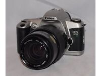 CANON EOS 500N 35MM SLR FILM CAMERA WITH SIGMA ZOOM LENS