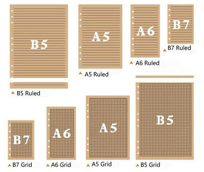 B7a6a5b5 Planner Diary Notebook Insert Refill Notes Paper Organiser 80 Sheets