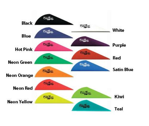 "Blazer Vane 2"" 100pk Arrow Fletching Mix Match Red Blue Pink Black Yellow Orange"
