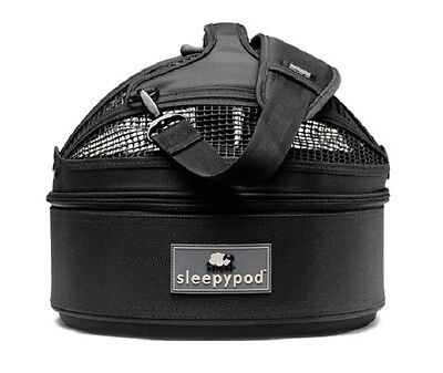 NEW Sleepypod Mini Pet Bed Dog or Cat Traveler Carrier JET BLACK