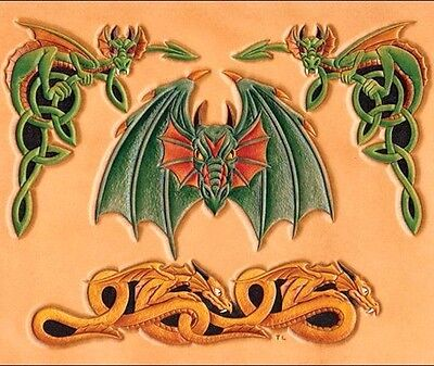 DRAGON CRAFTAID TEMPLATE 76606-00 Tandy Carving Leather Craftaids