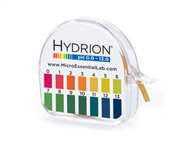 Hydrion Insta Chek Lab pH Test Paper Strip Tape Roll 0-13 Range USA 15 FT  #93