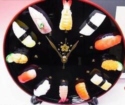Japanese Sushi Oke Wall Clock Handmade Table Fake Food Sample Free EMS Shipping