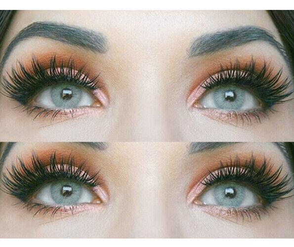 Farbige graue Silikon Kontaktlinsen mit ohne Stärke weich Jasmine grau natürlich