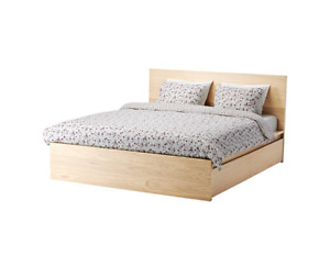 IKEA MALM BED FRAME and KING MATTRESS
