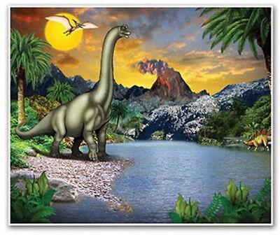 Dinosaur Scene Setter (DINOSAUR Scene Setter party wall backdrop Jurassic Park Brachiosaurus dino)