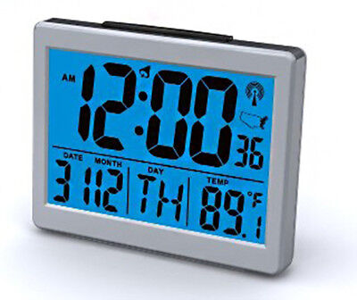 Exclusive Atomic Desk Digital Month, Day, Date, Temp Snooze Alarm Clock ()