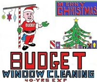 BUDGET WINDOW CLEANING  [[[ YEAR ROUND ]]]