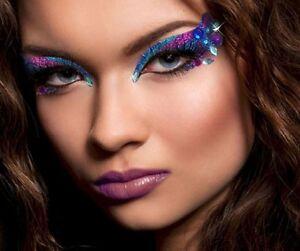 ... Feather Diamond Eye Fan Self Adhesive Makeup Costume Accessory   eBay
